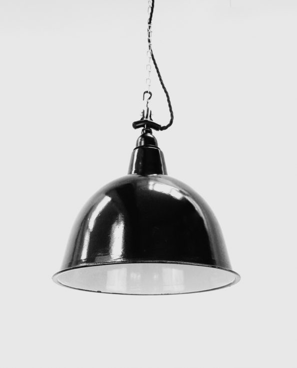 Black Cloche Enamel Light shade
