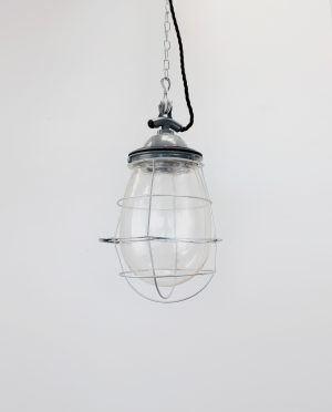 Grey caged glass bulb