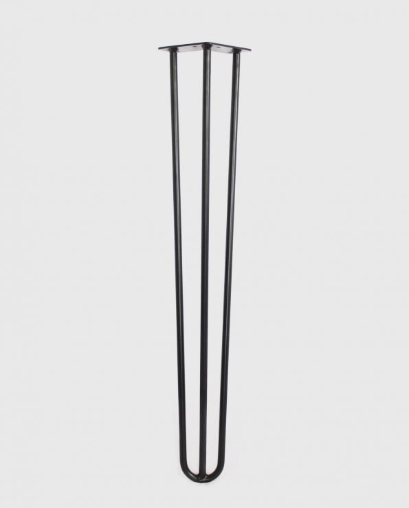 "Black 28"" 3 Road Hairpin Table Legs"