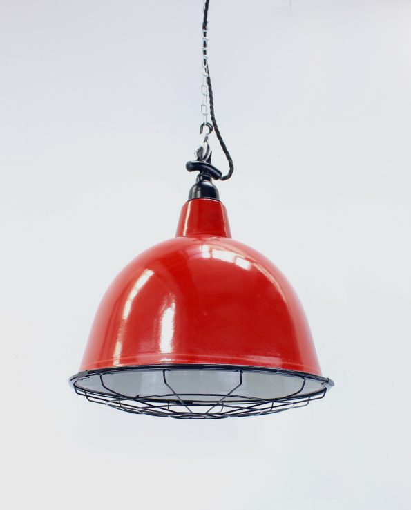 Red cloche with black with cage