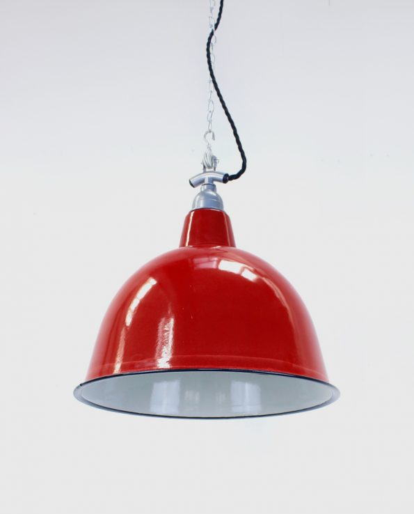 Red cloche with silver