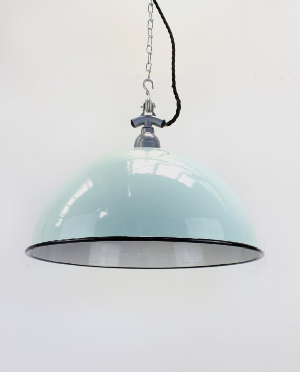 enamel dome teal silver