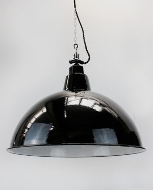 XXL industrial enamel light shade black