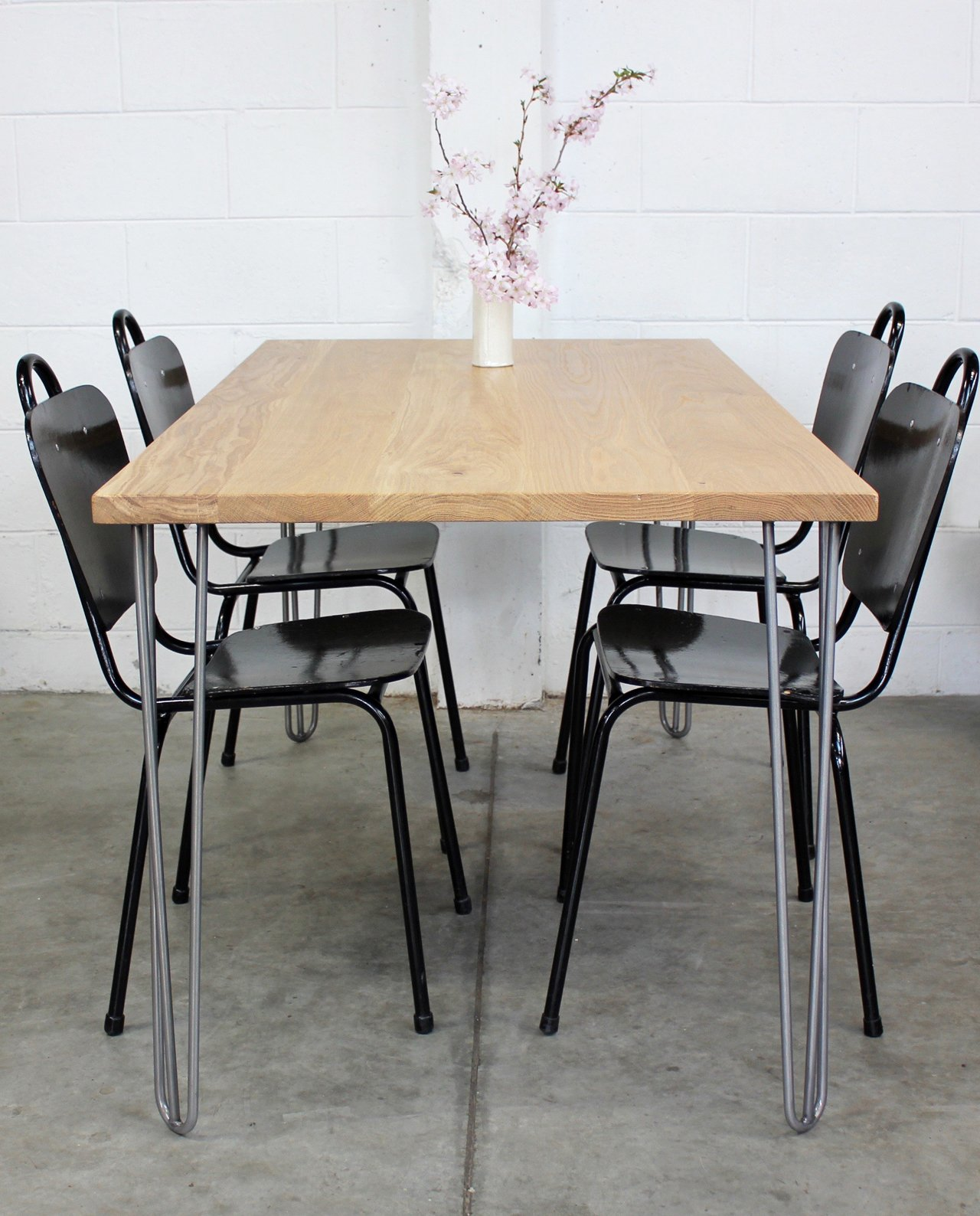 New Zealand Made Oak Dining Table w Mid Century Inspired  : Dining table 1 from loftmotif.co.nz size 1280 x 1588 jpeg 1288kB