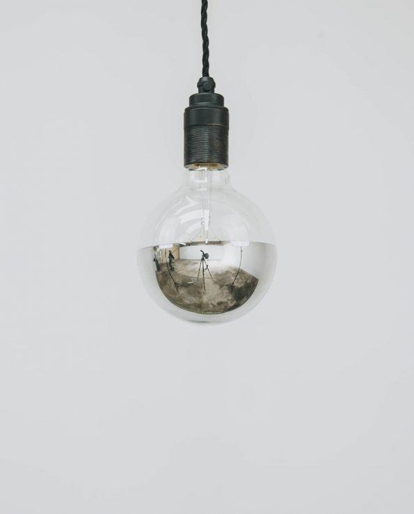 G125 LED Filament Light Bulb (Silver Cap)
