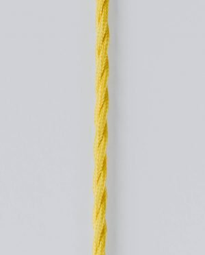 Yellow Fabric twisted cable