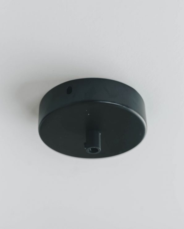 Minimal Ceiling Rose Black