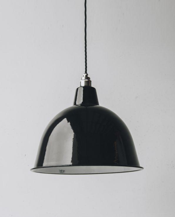 Black cloche silver