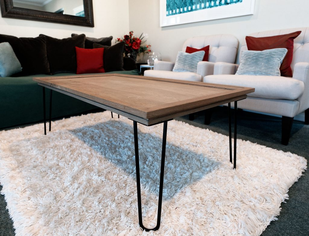 Coffee Table with Hairpin Legs by Pramuan Burusphat (Customer Photo)