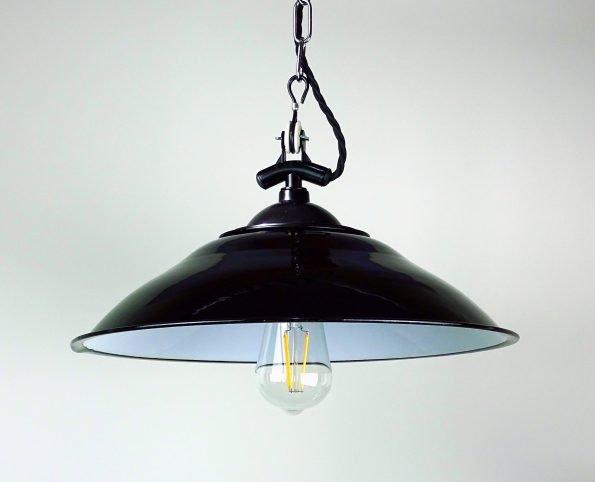 Black Comptoir, ST64 Bulb and Silver Chain