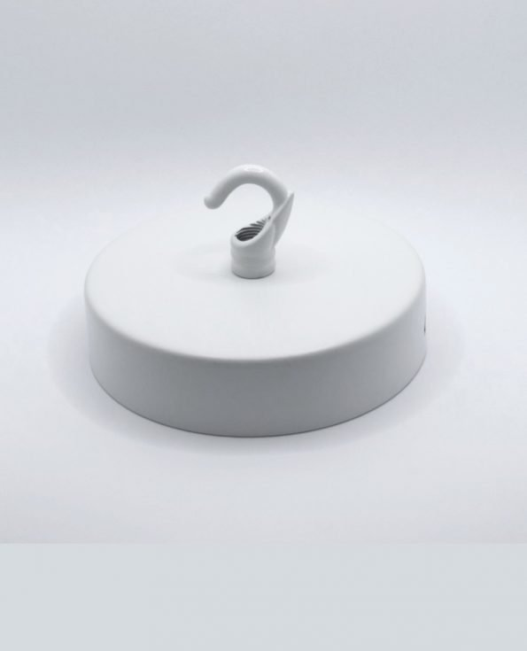 Minimal Ceiling Rose White with Hook